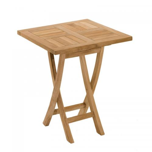 Table carrée pliante 60 cm en teck massif - Teck - 3 SUISSES