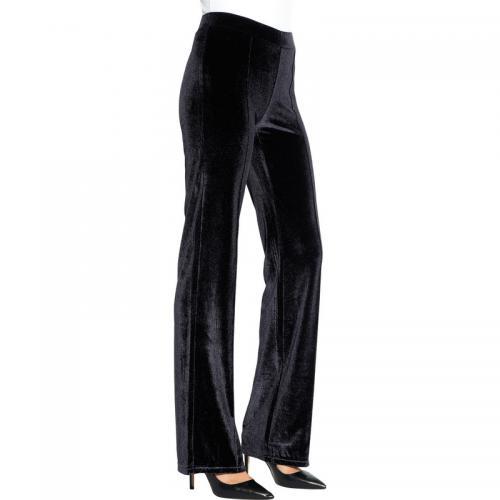 d0ddfcfc5c2f 3 SUISSES - Pantalon habillé en velours femme - Noir - Pantalons femme