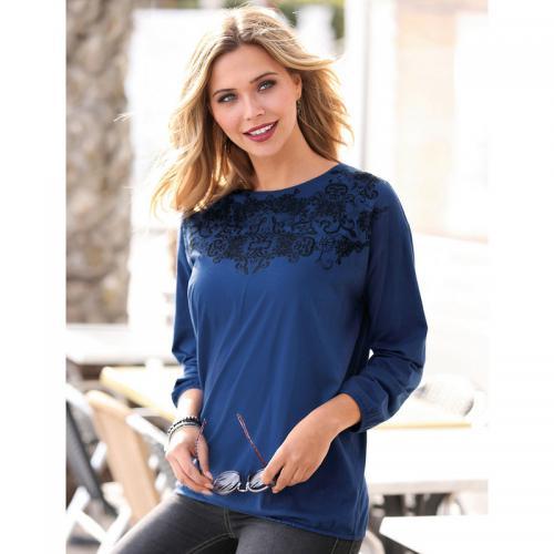 fd4ecc383c94e 3 Suisses - Tee-shirt bas et manches longues élastiqués dentelle imprimée femme  exclusivité 3Suisses