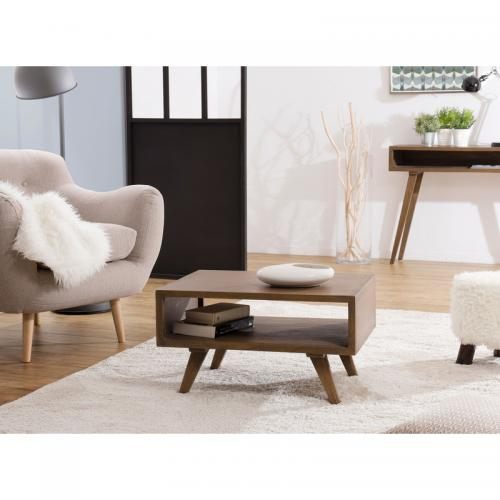 3 SUISSES - Table basse style scandinave - Marron - Salon