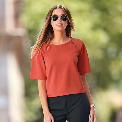 3 SUISSES - Blouse - Orange - Vêtements femme