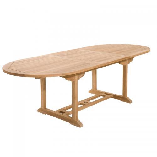Table ovale extensible 8/10 personnes en teck massif - Teck - 3 SUISSES