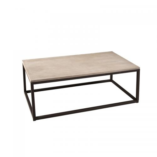 3 SUISSES - Table basse rectangulaire 115 x 65 cm style industriel - Bois - Salon