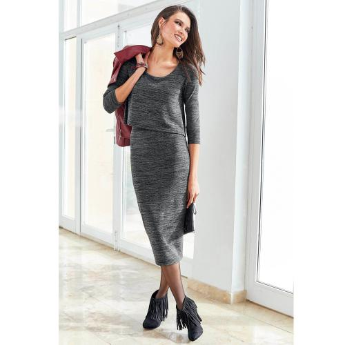 3 Suisses - Robe Exclusivité 3SUISSES - Gris - Robes femme