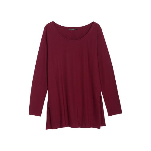 930da571f560 3 SUISSES - Tee-shirt long fendu manches longues col rond femme - T-