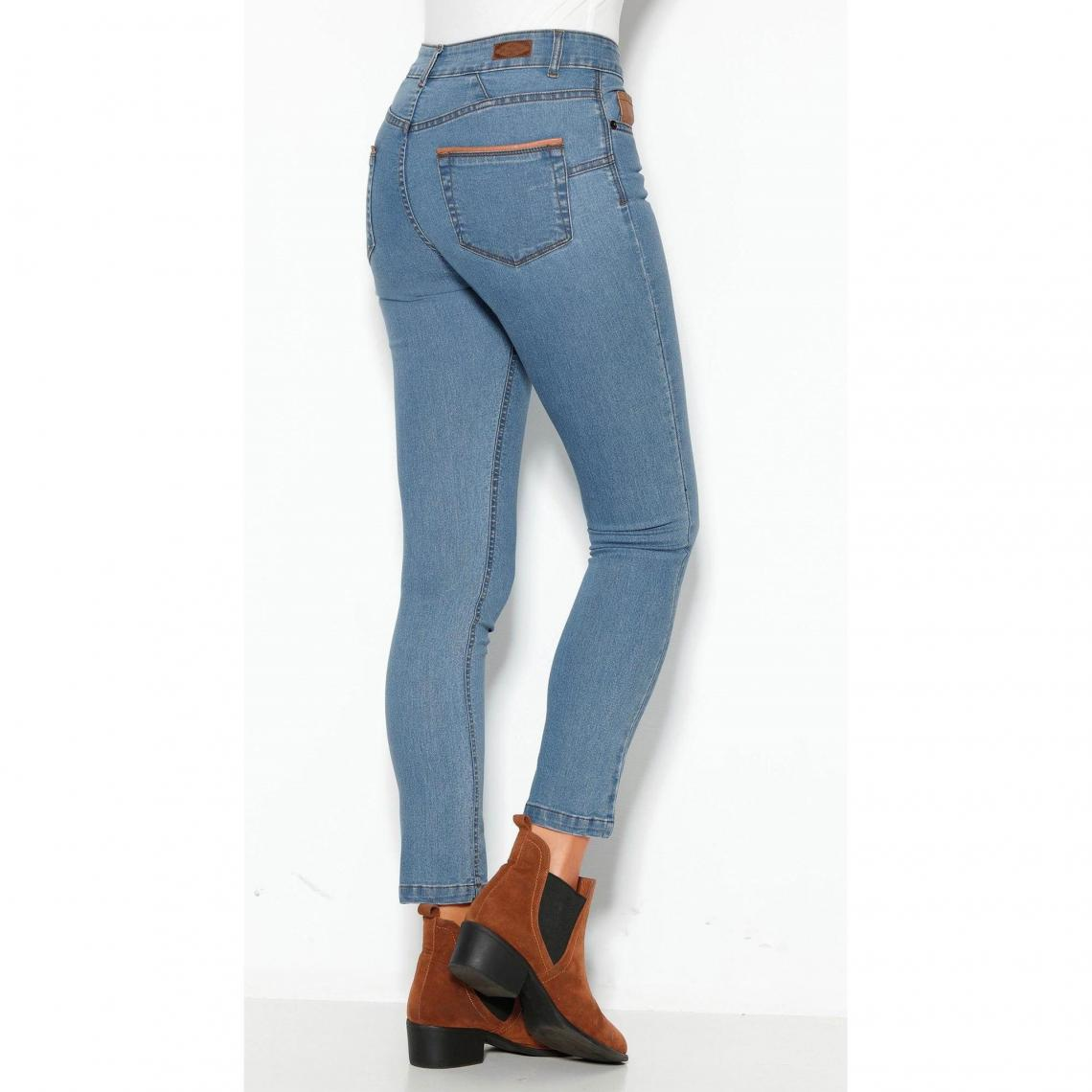 4bc99fd09106 Jean skinny 5 poches taille haute femme - Bleu Ciel 3 SUISSES