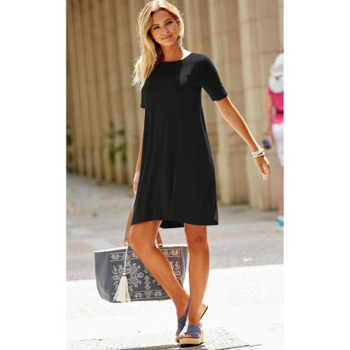3 Suisses - ROBE COL ROND FINITION EVAS?E F - Robes femme