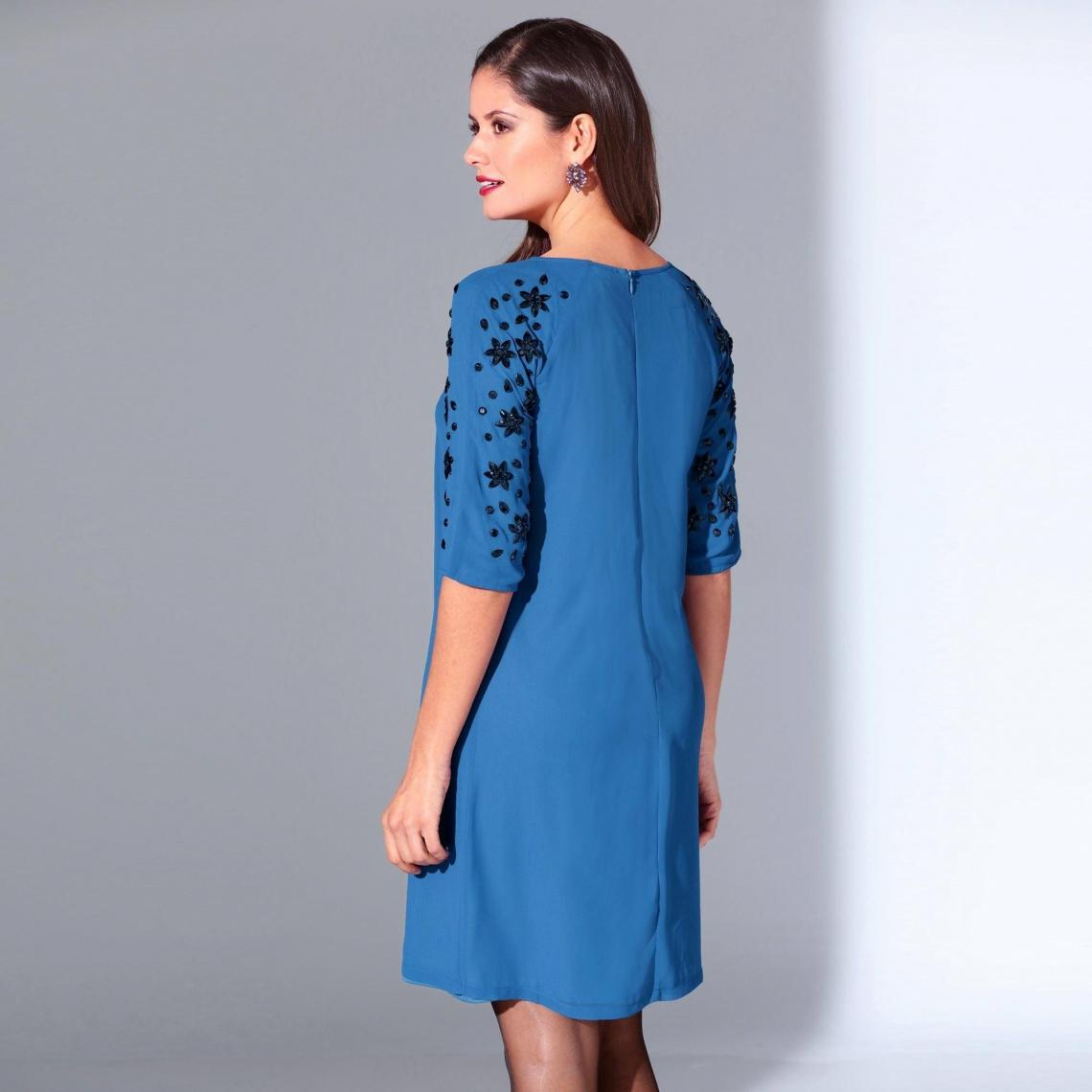 Robe Habillee Courte Femme Bleu 3 Suisses
