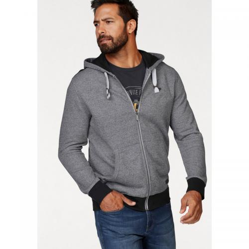3 Suisses - Sweat zippé à capuche homme Man's World - Bleu - Vêtements homme
