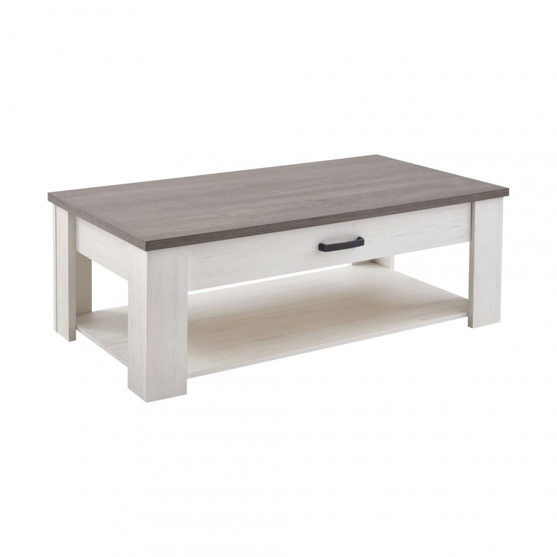 table basse rectangulaire double plateau 1 tiroir marquis. Black Bedroom Furniture Sets. Home Design Ideas