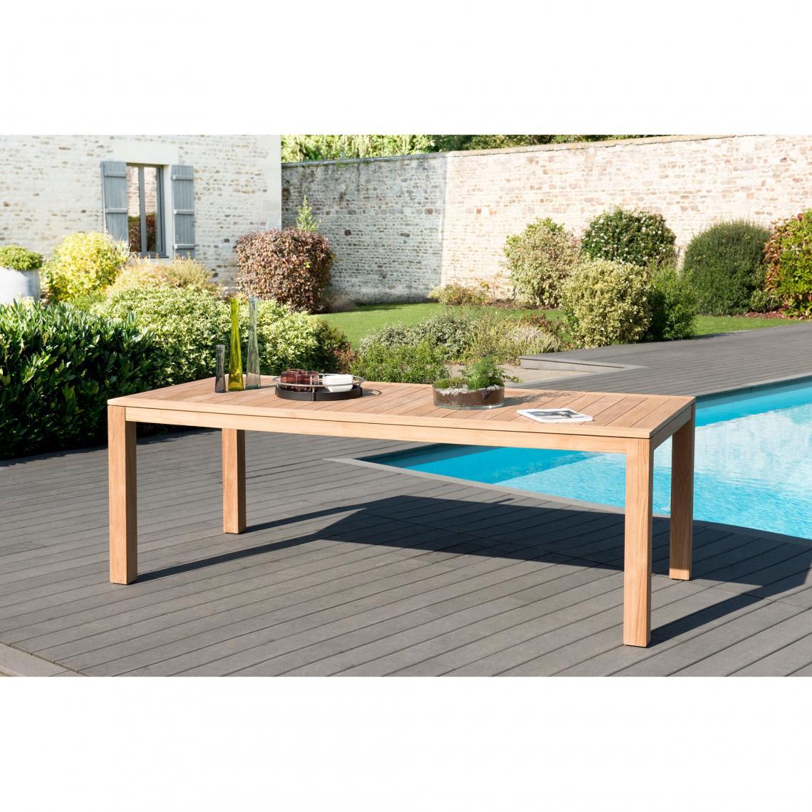 Table de jardin rectangulaire en teck massif Vieste