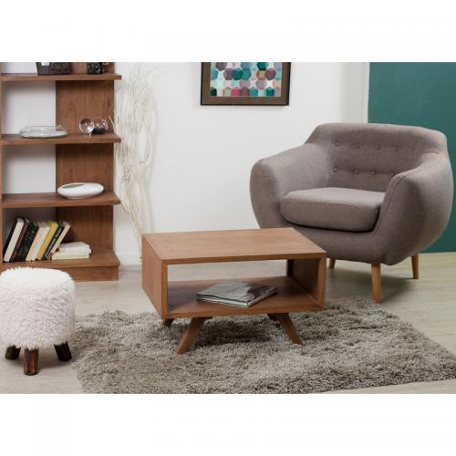 table basse rectangulaire double plateau style scandinave. Black Bedroom Furniture Sets. Home Design Ideas