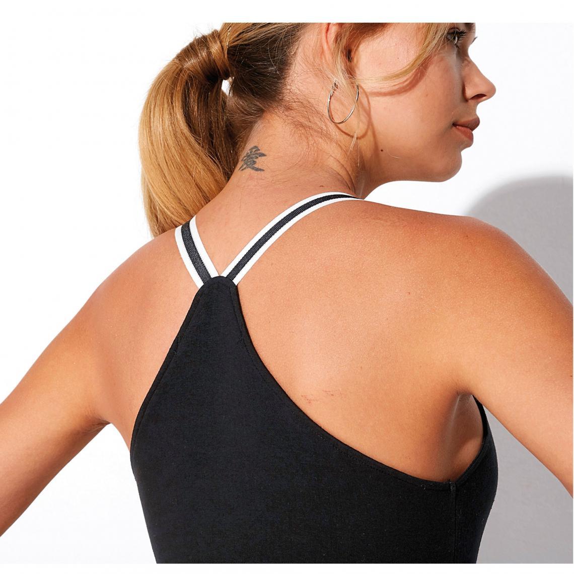 50251c510699 T-shirt sport 3 SUISSES Cliquez l'image pour l'agrandir. Tee-shirt fitness  dos nageur bretelles élastiques femme - Noir ...