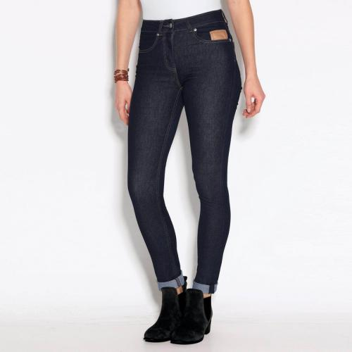 3 SUISSES - Jean skinny 5 poches taille haute femme - Bleu Marine