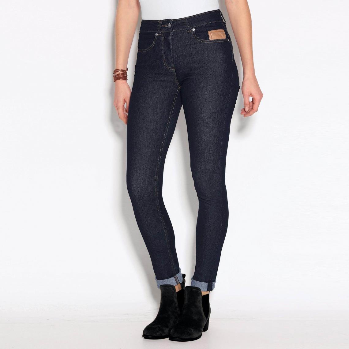 profiter du meilleur prix sortie d'usine fournir un grand choix de Jean skinny 5 poches taille haute femme - Bleu Marine   3 ...