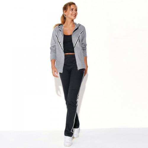3 SUISSES - Pantalon fitness taille élastique poches zippées femme  Exclusivité 3SUISSES - Noir - Pantalons d4899304b4b