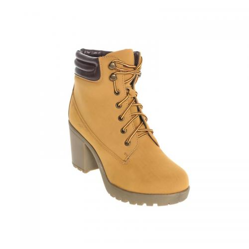 41523838d6a 3 SUISSES - Bottines à lacets haut tige contrasté femme - Camel - Boots  femme