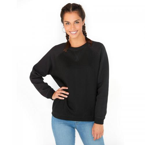 3 SUISSES Collection - Sweat manches longues finitions bords-côtes femme - Noir - Promotions