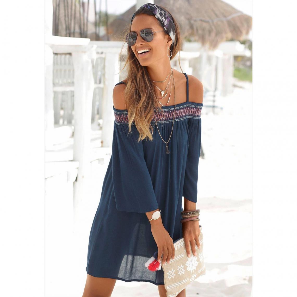 Robe de plage femme RED Label S Oliver , Bleu