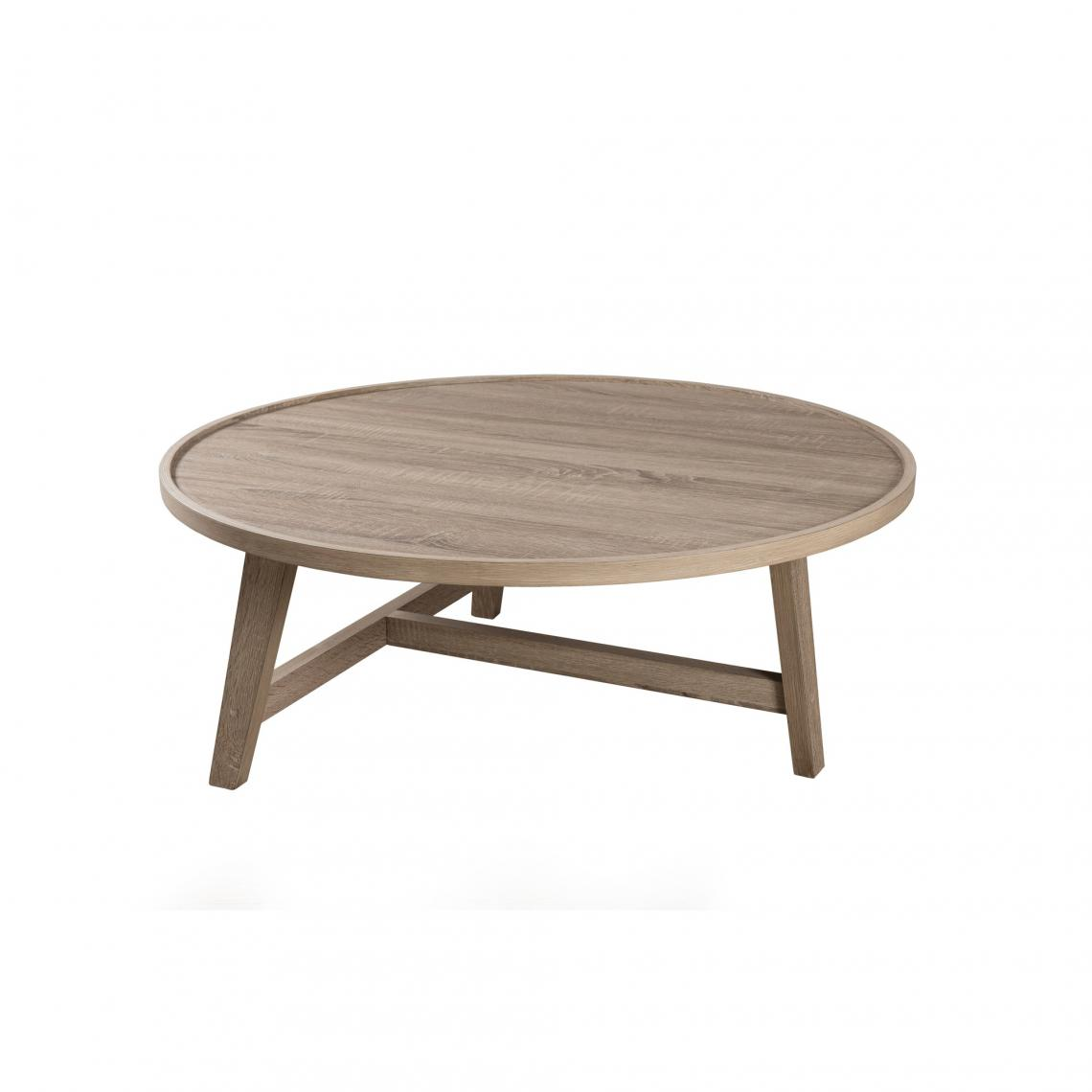 Blanc3 Bois Table Basse Ronde Suisses Pieds H9WED2I