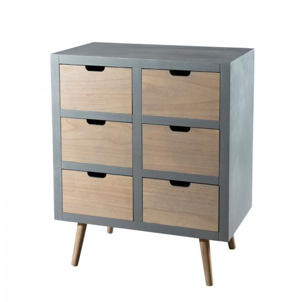 Commode 6 tiroirs - Gris 3 SUISSES