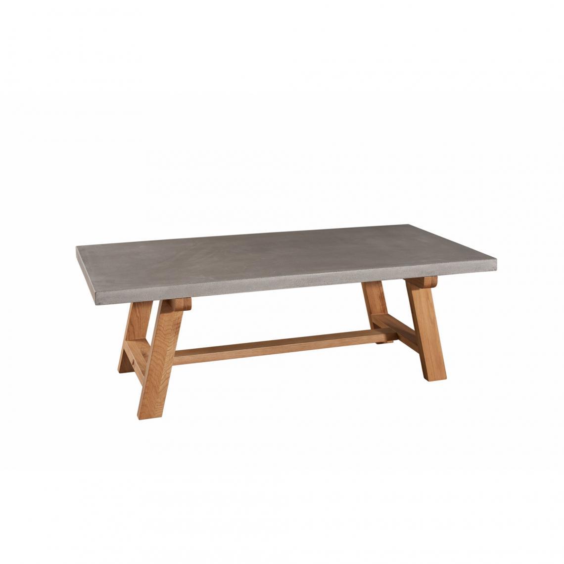 Comment Faire Une Table En Béton Ciré table basse rectangulaire en chêne plateau bâton ciré 120 x 60 cm style  industriel - chêne clair / bâton plus de détails