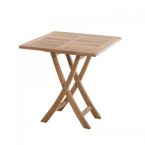 Table carrée pliante 70 cm en teck massif - Teck - 3 SUISSES