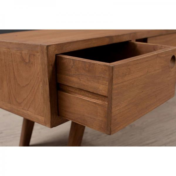 Banc TV 1 porte coulissante style scandinave - Cannelle 3 Suisses