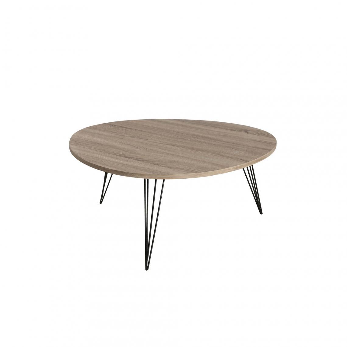 table basse ronde pieds m tal blanc 3 suisses. Black Bedroom Furniture Sets. Home Design Ideas
