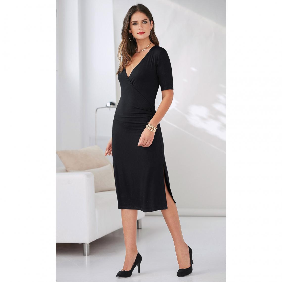 Robe Femme Exclusivité Latérales En Col Croisé 3suisses V Fronces BnqB6Yrw