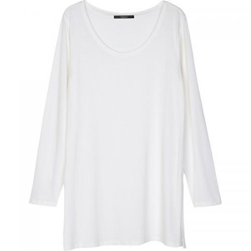 3 Suisses - Tee-shirt long fendu manches longues col rond femme Exclusivité  3SUISSES - 3f905ca86308