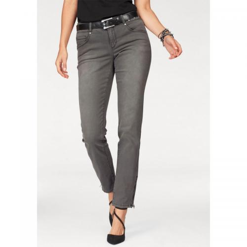 3 SUISSES - Jean skinny femme Laura Scott - Gris Anthracite - Jean et denim