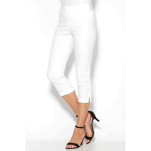 a5ede20cf3b 3 SUISSES - Pantalon Corsaire élastique effet ventre plat - Blanc - Shorts