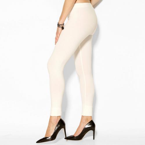 3 SUISSES - Legging uni sans coutures taille élastique femme Exclusivité  3SUISSES - ÉCRU - Mode 09c89ba66db