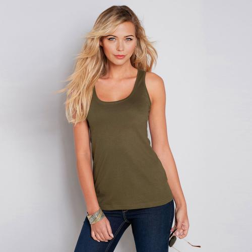 d9e64127d9eb8 Tee-shirt larges bretelles encolure arrondie femme - Vert