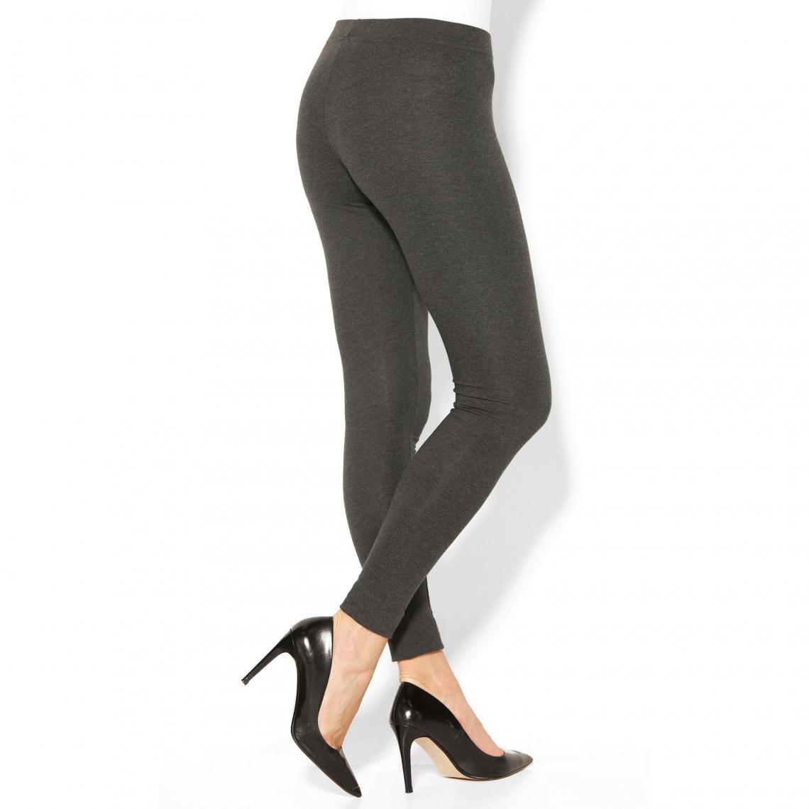 Legging uni sans coutures taille élastique femme Gris 39 Avis Plus de détails