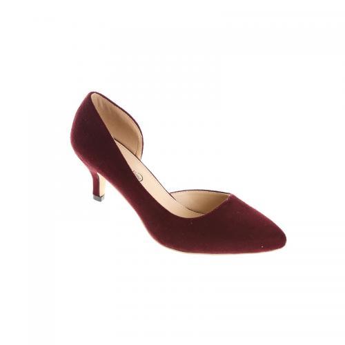 818d6d8651ddc 3 Suisses - Escarpins à talons recouverts femme Exclusivité 3SUISSES - Lie  De Vin - Chaussures