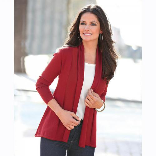 3 SUISSES - Gilet manches longues 3 Suisses Collection femme - Rouge - Gilet / Cardigan