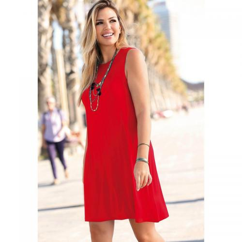 3 SUISSES - Robe courte femme - Rouge - Robe Rouge