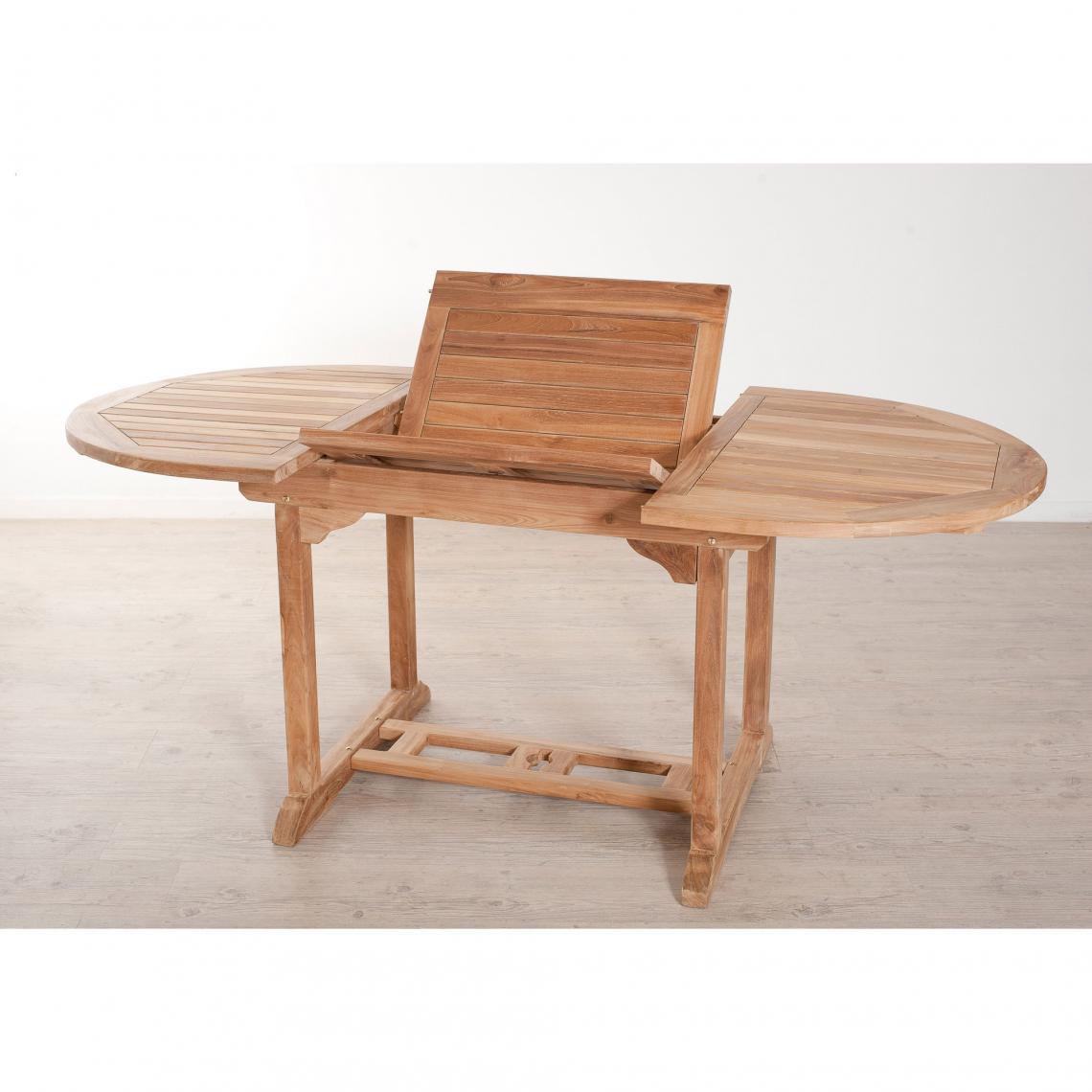 Table ovale extensible 4/6 personnes en teck massif - Teck | 3 SUISSES