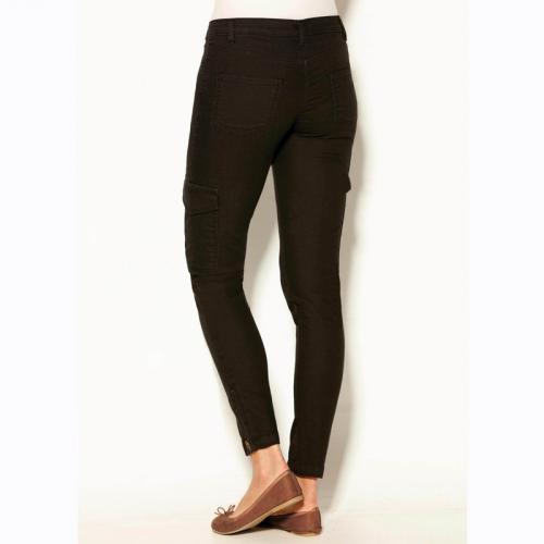 f8b5908b994 3 SUISSES - Pantalon multipoches bas zippés femme - Noir - Pantalons femme