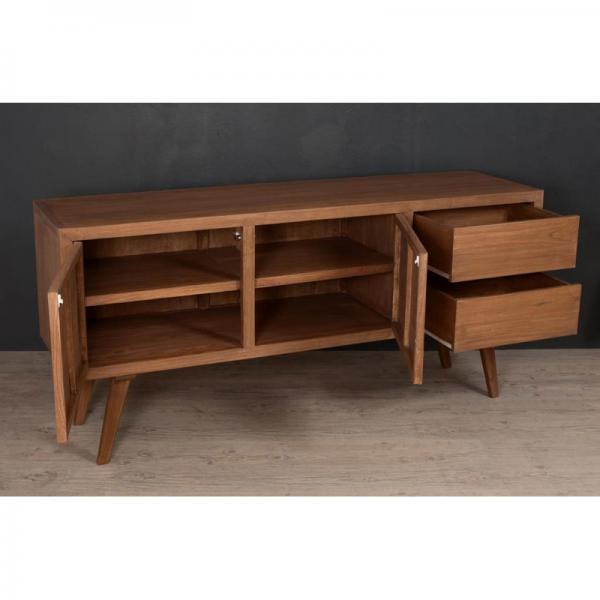 Buffet 2 portes 2 tiroirs style scandinave - Cannelle 3 Suisses