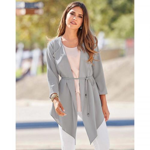2651bf527c328 3 Suisses - Veste kimono femme Exclusivité 3SUISSES - Gris - Vestes femme