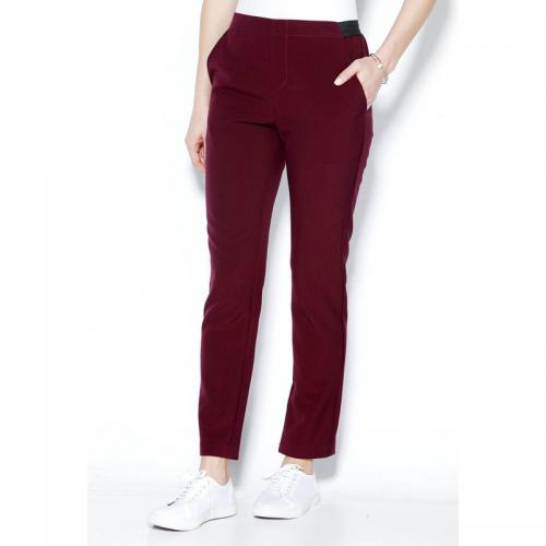 7146a2d9a2ad 3 SUISSES - Pantalon taille élastique et pinces dos femme - Lie De Vin -  Pantalons