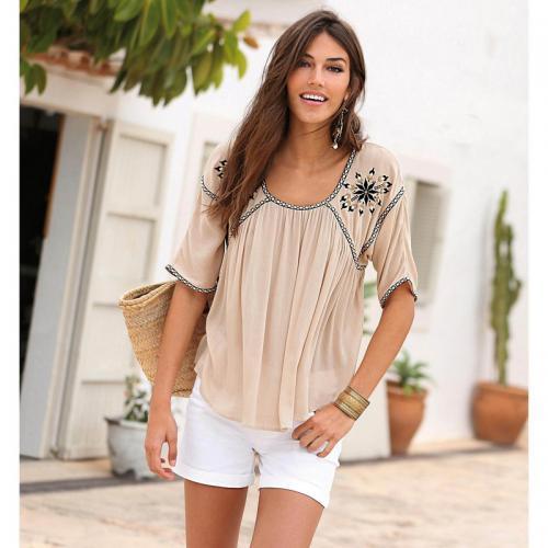 bdc220bc6c118 3 SUISSES - Short femme - Blanc - Short