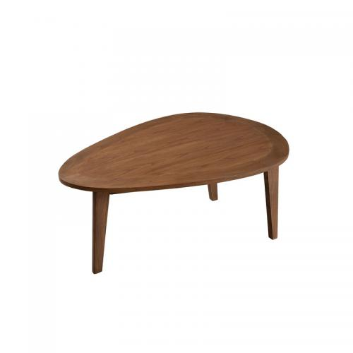 3 SUISSES - Table basse goutte d'eau 100 cm style scandinave - Cannelle - Salon