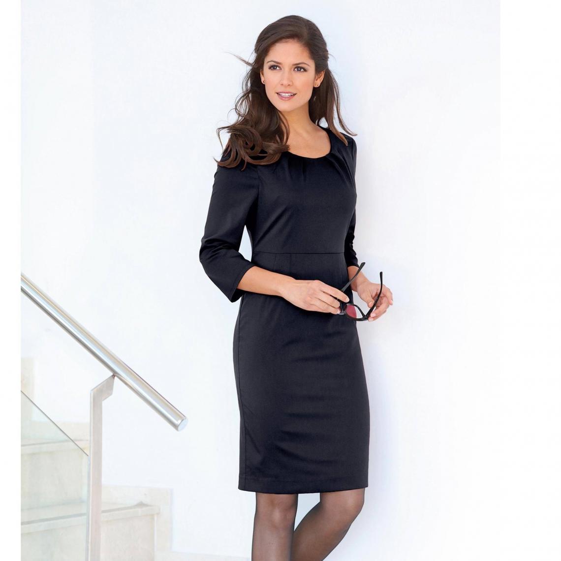 Robe courte femme - Noir - 3 SUISSES - Modalova