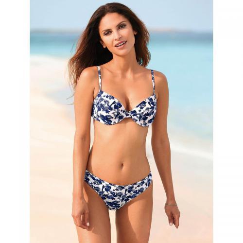 official images 100% quality best service Bikini imprimé armatures bretelles réglables femme - Imprimé Bleu Marine -  3 SUISSES