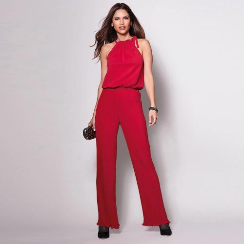 pas cher fabrication habile choisir le dernier Combinaison sans manche encolure à nouer femme - Rouge - 3 SUISSES