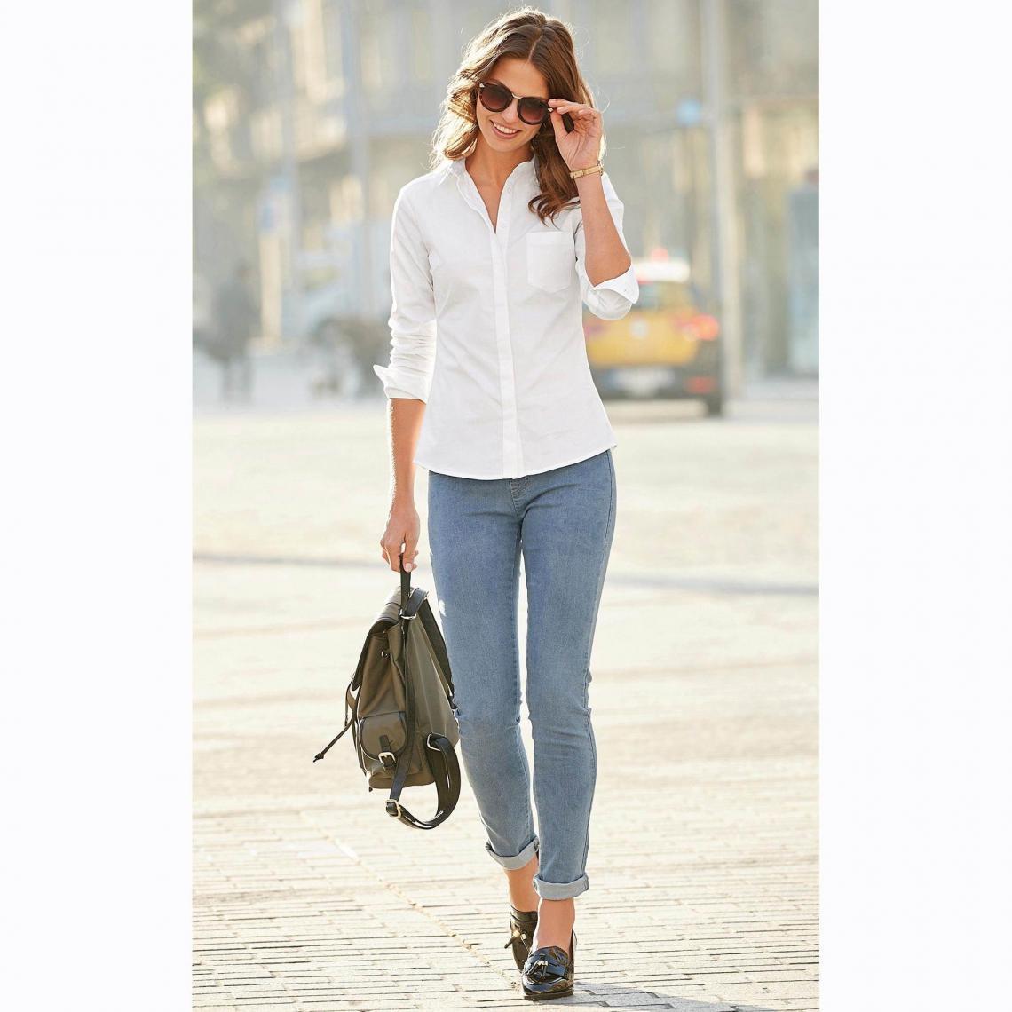 Tregging en jean taille élastique - Bleu - 3 SUISSES - Modalova